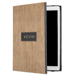 Brown Wood texture Monogram