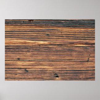 Brown wood texture print