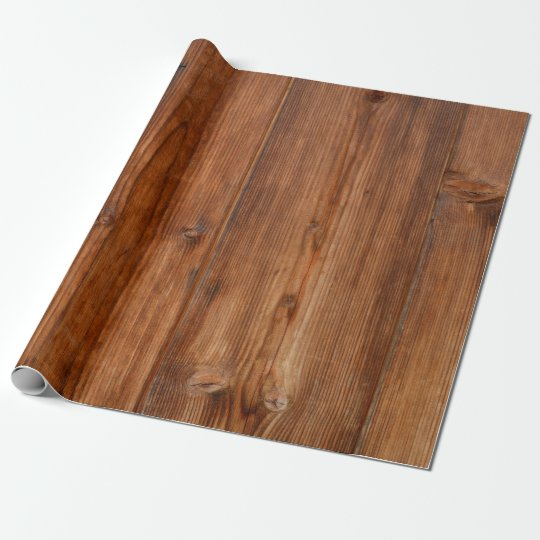 Brown Wood Wall Texture Structure Wrapping Paper