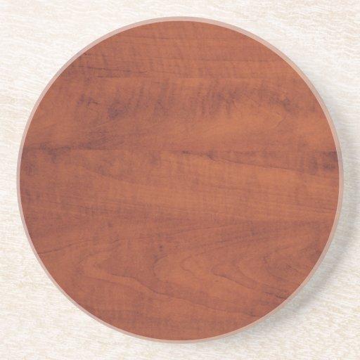 Brown Wooden Design Drink Coaster Zazzle