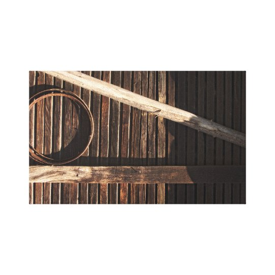 Brown Wooden Planks Barn Wall - rural photography Canvas Print