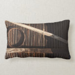 Brown Wooden Planks Barn Wall - rural photography Pillow