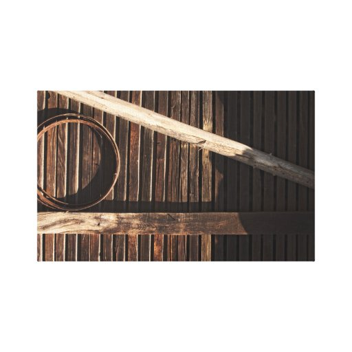 Brown Wooden Planks Barn Wall - rural photography Gallery Wrap Canvas