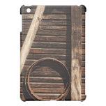 Brown Wooden Planks Barn Wall - rural photography iPad Mini Case