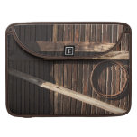 Brown Wooden Planks Barn Wall - rural photography MacBook Pro Sleeves