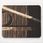 Brown Wooden Planks Barn Wall - rural photography Mouse Pad