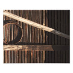 Brown Wooden Planks Barn Wall - rural photography Photographic Print