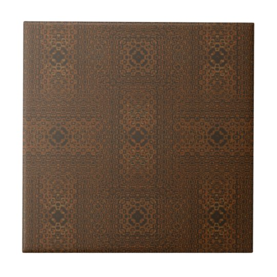Brown Woven Look Pattern Ceramic Tile
