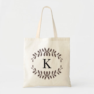 Brown Wreath Personalized Monogram Bags