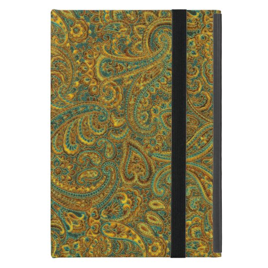 Brown & Yellow Rustic Vintage Paisley Pattern Cover