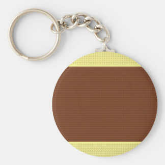 Brown & Yellow: Two- Toned Keychain