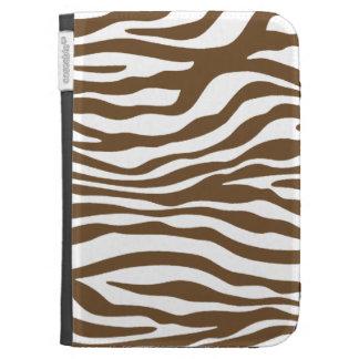 Brown Zebra Animal Print Kindle Keyboard Covers