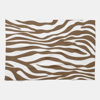 Brown Zebra Animal Print Tea Towel