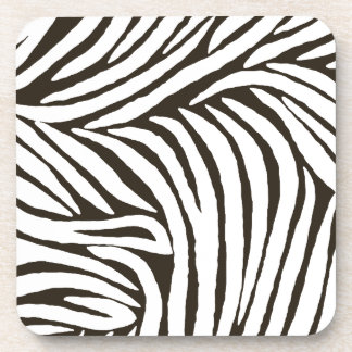 Brown Zebra Print Coasters