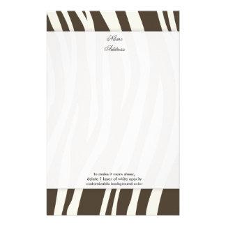 Brown Zebra Stripes background color!! Stationery