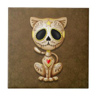 Brown Zombie Sugar Kitten Tile