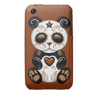 Brown Zombie Sugar Panda iPhone 3 Cases