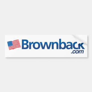 Brownback com Bumper Bumper Sticker