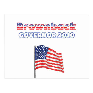 Brownback Patriotic American Flag 2010 Elections Postcard