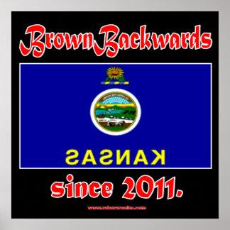 BrownBackwards Print