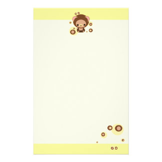 brownie bear customised stationery