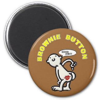 BROWNIE BUTTON MAGNET