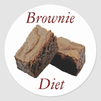 Brownie Diet Round Sticker