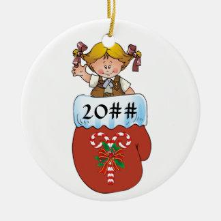 Brownie Mitten Blonde Christmas Ornament