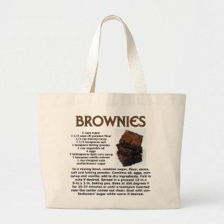Brownie Recipe Jumbo Tote Bag