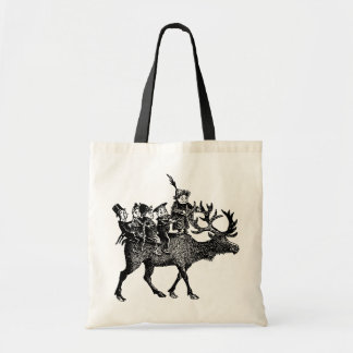 Brownies riding Reindeer Tote Bag