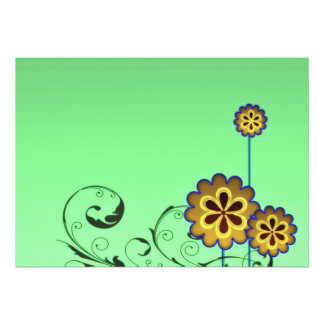 Brownish blossom and Greenish swirls Announcement