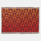 Brownish Red Triangles on Autumn Coloured Gradient Throw Blanket