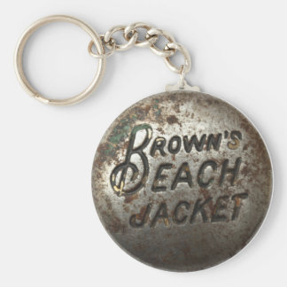 Brown's Beach Jacket Basic Round Button Key Ring