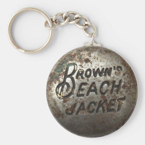 Brown's Beach Jacket Keychain