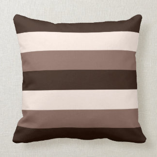Browns & Cream Horizontal Striped Design Cushion