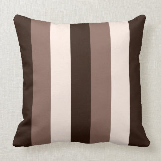 Browns & Cream Vertical Striped Design Cushion