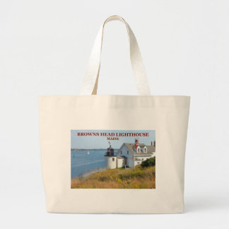 Browns Head Lighthouse, Maine Jumbo Tote Bag