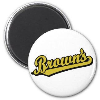 Brown's in Gold Fridge Magnet