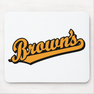Brown's in Orange Mouse Pad