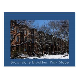 Brownstone Brooklyn NY Post Card