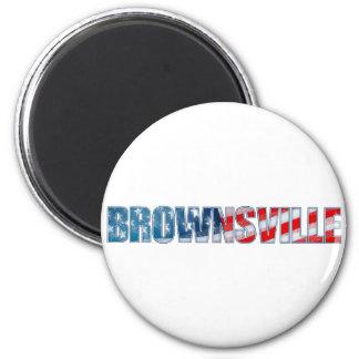 Brownsville 6 Cm Round Magnet