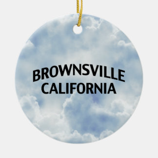 Brownsville California Christmas Tree Ornament