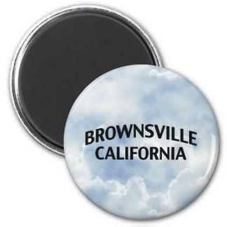 Brownsville California Fridge Magnet