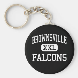 Brownsville - Falcons - Area - Brownsville Basic Round Button Key Ring