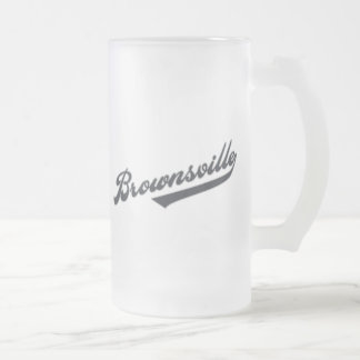 Brownsville Frosted Glass Beer Mug