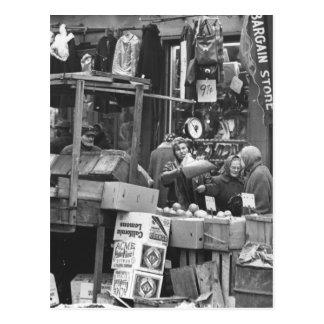 Brownsville market Brooklyn 1962 Postcard