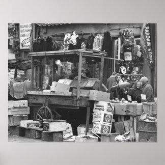 Brownsville market, Brooklyn: 1962 Poster
