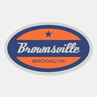Brownsville Oval Sticker