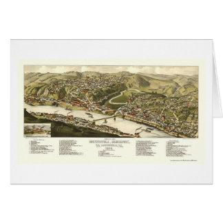 Brownsville, PA Panoramic Map - 1883 Greeting Card