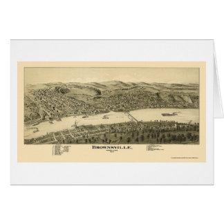 Brownsville, PA Panoramic Map - 1902 Greeting Card